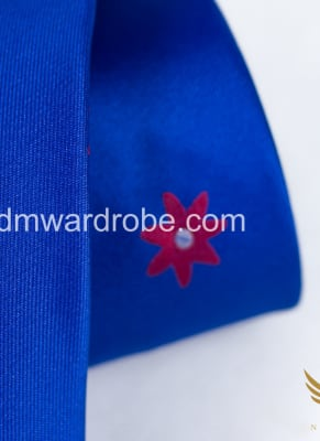Blue Red Polka Star Tie