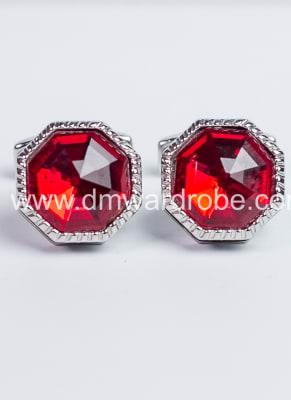 Red Silver Cufflinks