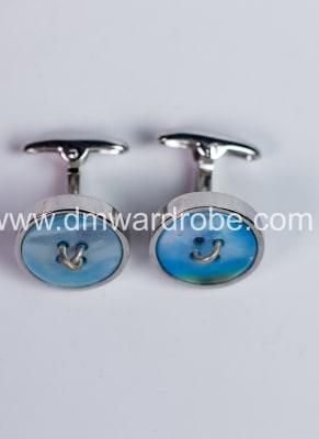 Sky Blue Silver Cufflinks