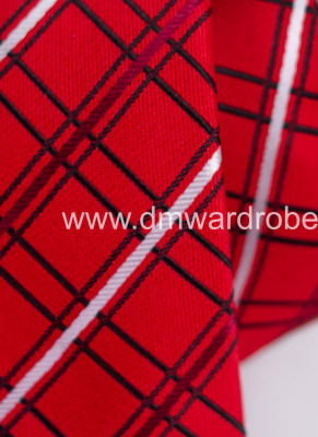 Red Black Stripes Tie
