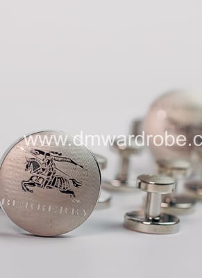 Burberry Silver Cufflinks And Studs