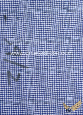 Suiting Blue & White Check Fabric