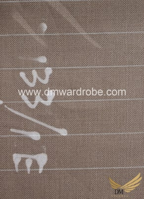 Suiting Brown Stripes Fabric