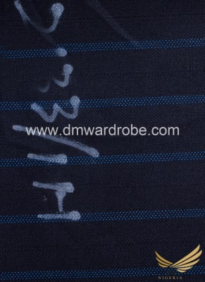 Suiting Navy Blue & Light Blue Stripes Fabric