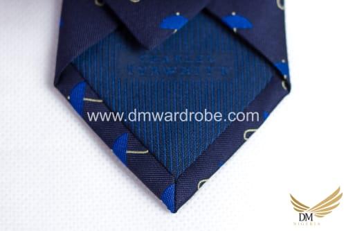 Blue Polka Umbrella Tie