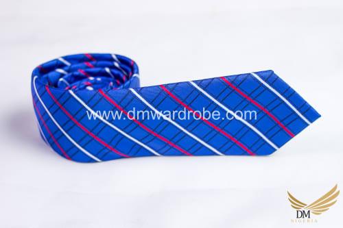 Blue Red Stripes Tie