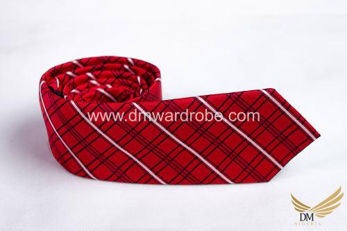 Red Black Stripes Tie