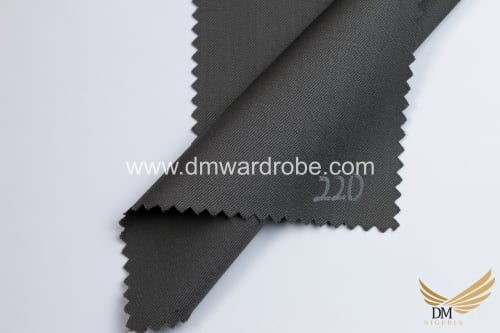 Suiting Dark State Grey Fabric
