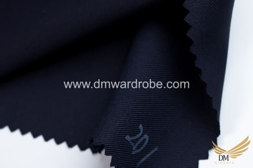 Suiting Raven Blue Fabric