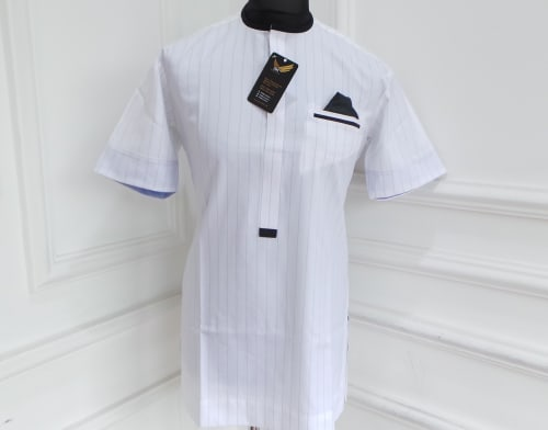 White striped Men's Traditional Wear.
