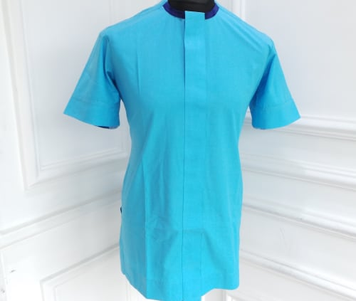 Men's traditional wear in Turquoise blue.