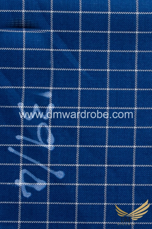 Suiting Blue Check Fabric