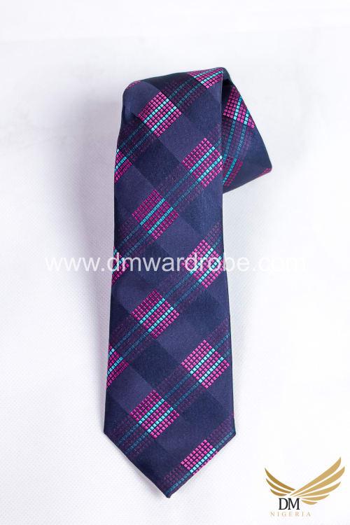 Grey Pink Tie