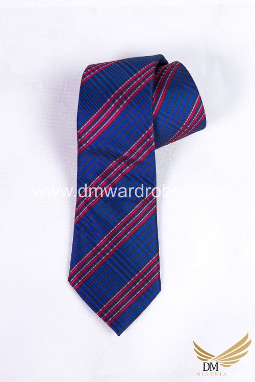Red & Blue Stripes Tie