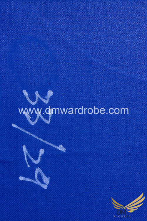 Suiting Capri Blue Fabric