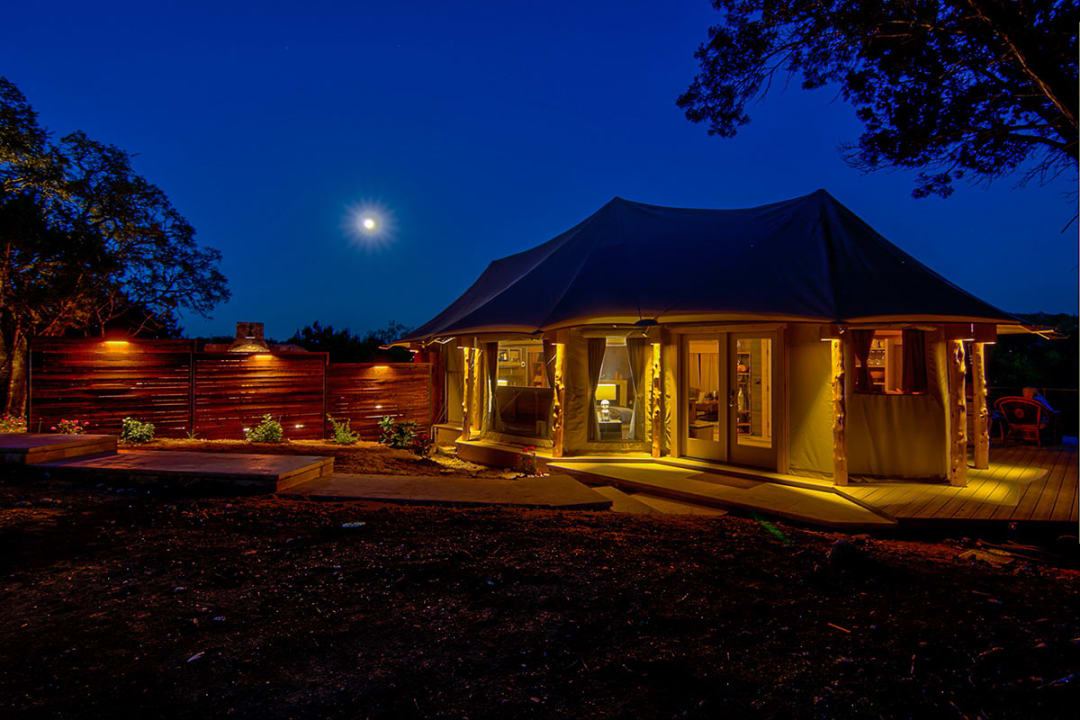 Get away while giving back to foster children at stunning Hill Country glamping spot