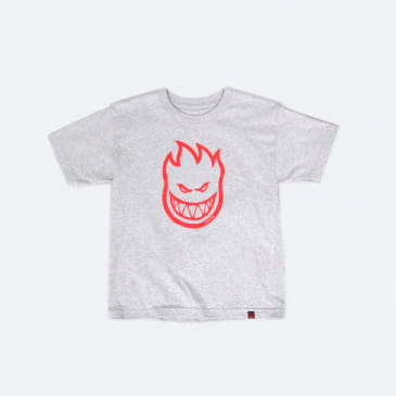 Spitfire Bighead Youth T-Shirt Athletic Heather / Red