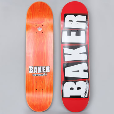 Baker 8.25 Brand Logo Skateboard Deck Red / White