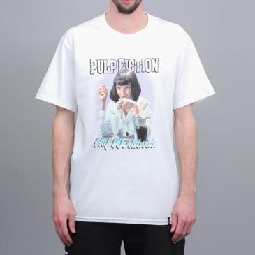 HUF x Pulp Fiction Mia Airbrush T-Shirt White