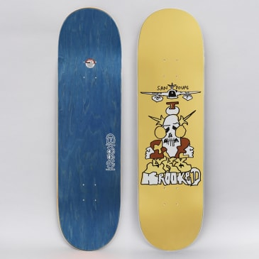 Krooked 8.75 Sandoval Fly Over Skateboard Deck Yellow