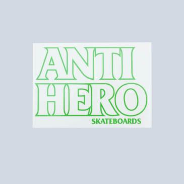 Anti Hero Black Hero Sticker Green Outline