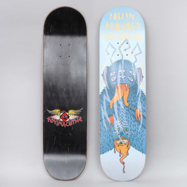Toy Machine 8.38 Provost Cannibal Sect Skateboard Deck White