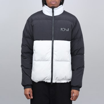 Polar Combo Puffer Jacket Black / Ice Grey