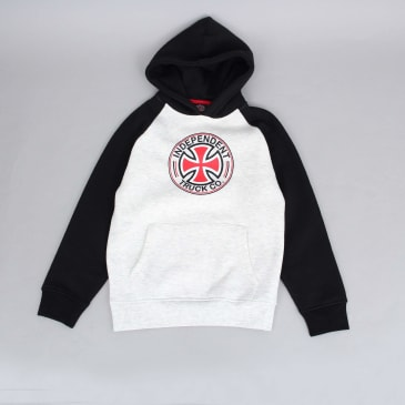 Independent Directional Youth Raglan Hood Black / Athletic Heather