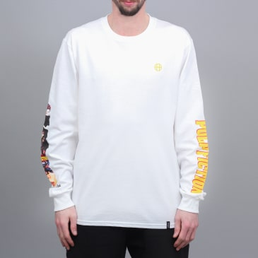 HUF x Pulp Fiction Collage Longsleeve T-Shirt White