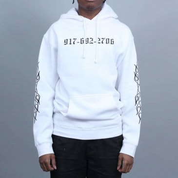 917 Chopper Pullover Hood White