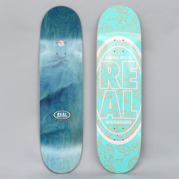 Real 8.5 Stacked Oval Floral Deck Teal