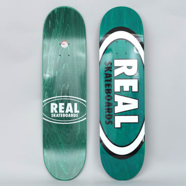 Real 8.125 Overspray Oval Skateboard Deck Green