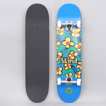 Blind 7.625 Flowers FP Complete Skateboard Blue