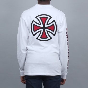Independent Bar Cross Longsleeve T-Shirt White