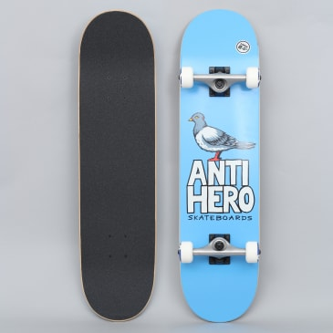 Anti Hero 8 Pigeon Hero Large Complete Skateboard Blue