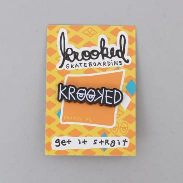 Krooked Strait Eyes Lapel Pin Black / White