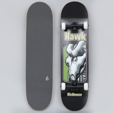Birdhouse 8 Stage 3 Hawk Old School Complete Skateboard Black