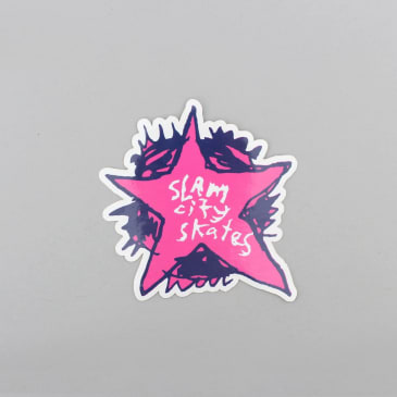 Slam City Skates Swank Star Sticker Magenta