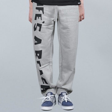 Life's A Beach Track Pant Grey