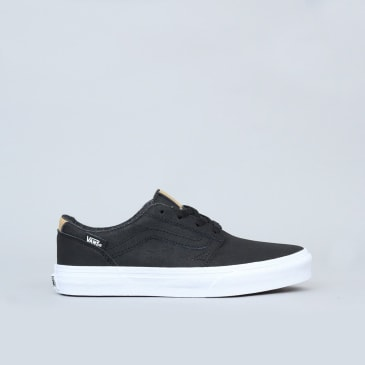 Vans Chapman Stripe Youth Shoes (H17 Leather) Black / White