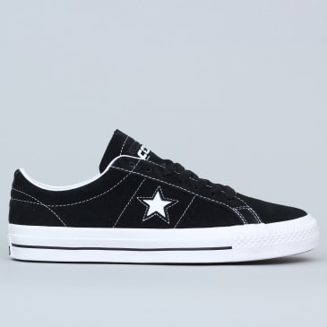 Converse One Star Pro Shoes OX Black / White / White