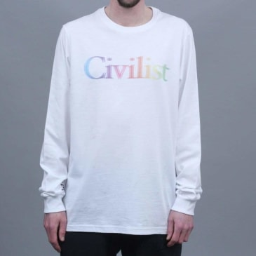 Civilist Drinking Longsleeve T-Shirt White