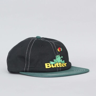 Butter Goods Frog 6 Panel Cap Black / Teal