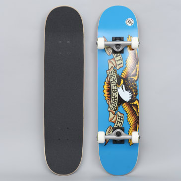 Anti Hero 7.5 Classic Eagle Small Complete Skateboard Blue