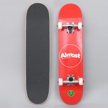 Almost 7 Thin Line Youth Complete Skateboard Red