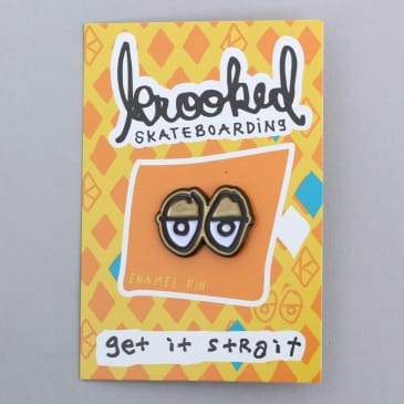 Krooked Eyes Lapel Pin Gold / Black