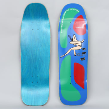 Prime 9.5 Turner / Gonz Flocked Lady Old School Skateboard Deck Blue