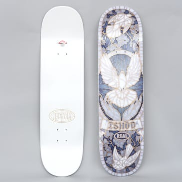 Real 8.25 Ishod Cathedral II Full Skateboard Deck White / Blue