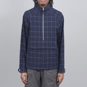 Pop Trading DRS Half Zip Jacket Navy Check