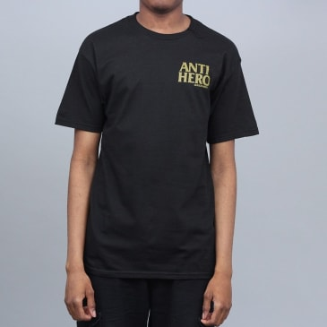 Anti Hero Lil Black Hero T-Shirt Black / Green